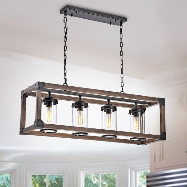 Most Recently Released Shop Daniela 4 Light Antique Black Metal And Wood Bubble Throughout Sherri 6 Light Chandeliers (View 20 of 30)