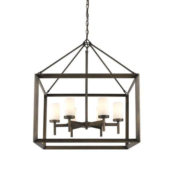 Most Recently Released Thorne 4 Light Lantern Rectangle Pendants With Regard To Thorne 6 Light Lantern Square / Rectangle Pendant (Gallery 20 of 30)