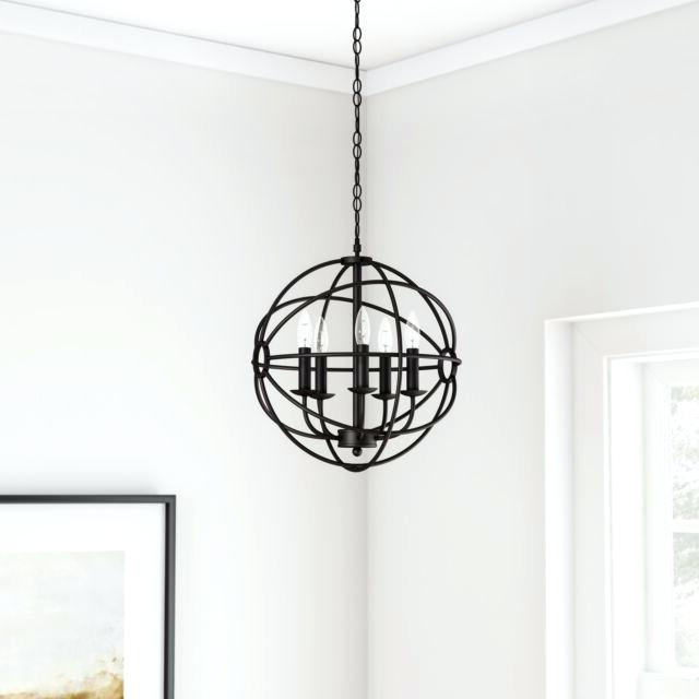 Most Recently Released Verlene Foyer 5 Light Globe Chandeliers Throughout Black Globe Chandelier – Cecilleseibel.co (Gallery 11 of 30)