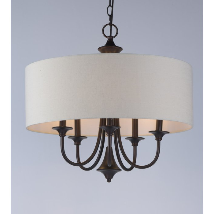 Most Recently Released Wadlington 5 Light Drum Chandeliers Within Wadlington 5 Light Drum Chandelier (Gallery 2 of 30)