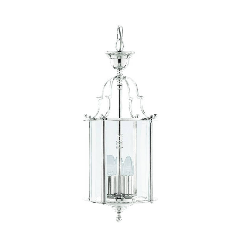 Most Up To Date 3 Light Ceiling Pendant Chrome, Clear Glass Throughout 3 Light Lantern Cylinder Pendants (View 21 of 30)