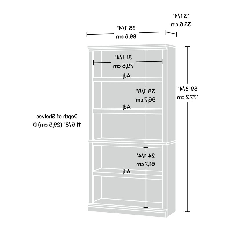 Most Up To Date Abigail Standard Bookcase With Abigail Standard Bookcases (View 15 of 20)