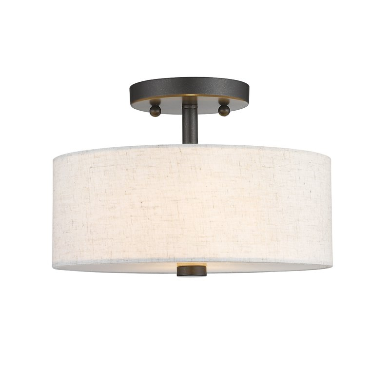 Most Up To Date Alina 2 Light Semi Flush Mount Pertaining To Alina 5 Light Drum Chandeliers (Gallery 13 of 30)