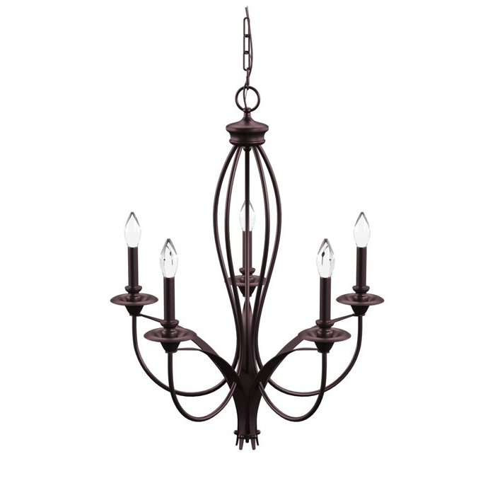 Most Up To Date Armande Candle Style Chandeliers For Tarres 5 Light Candle Style Chandelier (Gallery 13 of 30)