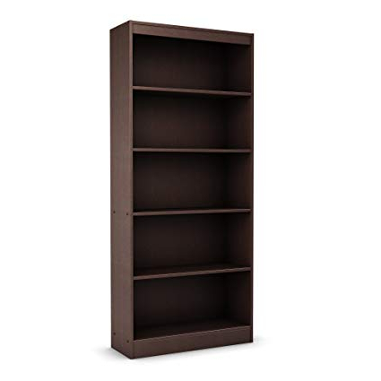 Most Up To Date Axess Standard Bookcases Regarding South Shore Axess Collection 5 Shelf Bookcase, Chocolate (Gallery 2 of 20)