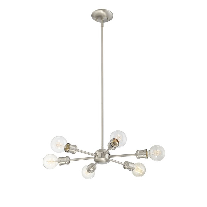 Most Up To Date Bautista 6 Light Sputnik Chandelier In Silvia 6 Light Sputnik Chandeliers (View 13 of 30)