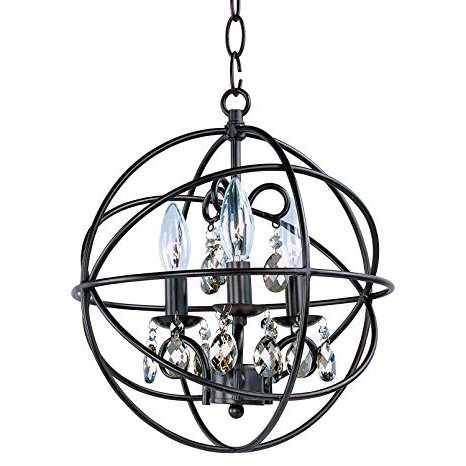 "Most Up To Date Bidwell Lighting Hendry 12"" Wide Pendant – Oil Rubbed Bronze In Hendry 4 Light Globe Chandeliers (Gallery 18 of 30)"