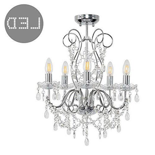 Most Up To Date Chandelier Light Fittings For Ceilings: Amazon.co (View 14 of 30)