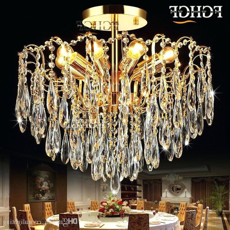 Most Up To Date Crystal Lighting Fixtures – Betcol.co With Mckamey 4 Light Crystal Chandeliers (Gallery 26 of 30)