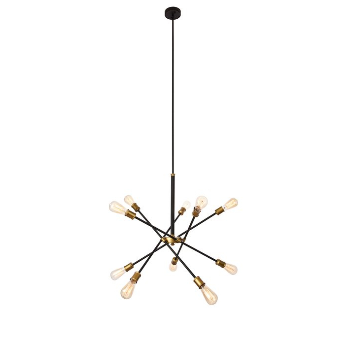 Most Up To Date Everett 10 Light Sputnik Chandelier Pertaining To Everett 10 Light Sputnik Chandeliers (Gallery 4 of 30)