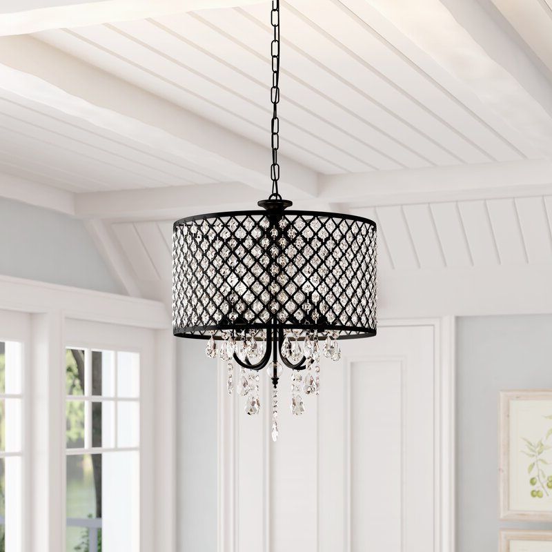 Most Up To Date Gisselle 4 Light Drum Chandelier Regarding Gisselle 4 Light Drum Chandeliers (Gallery 2 of 30)