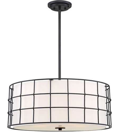 Most Up To Date Hayden 5 Light Shaded Chandeliers Throughout Hayden 5 Light 25 Inch Matte Black Pendant Ceiling Light (Gallery 8 of 30)