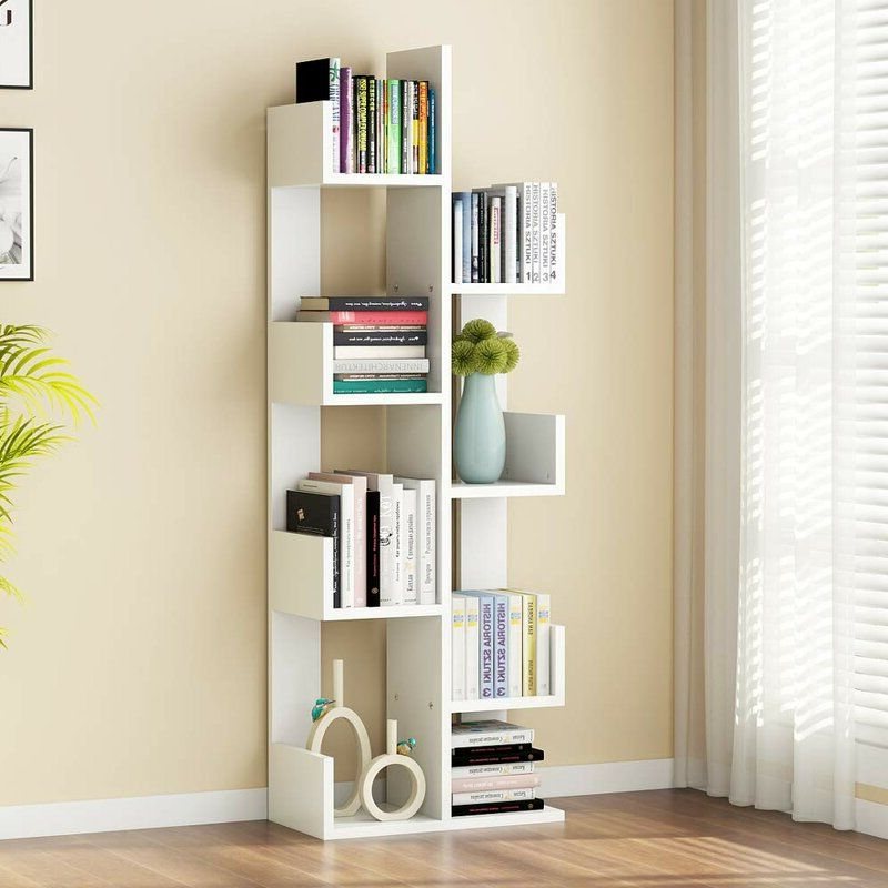Most Up To Date Holli Tree Geometric Bookcase In 2019 (Gallery 11 of 20)