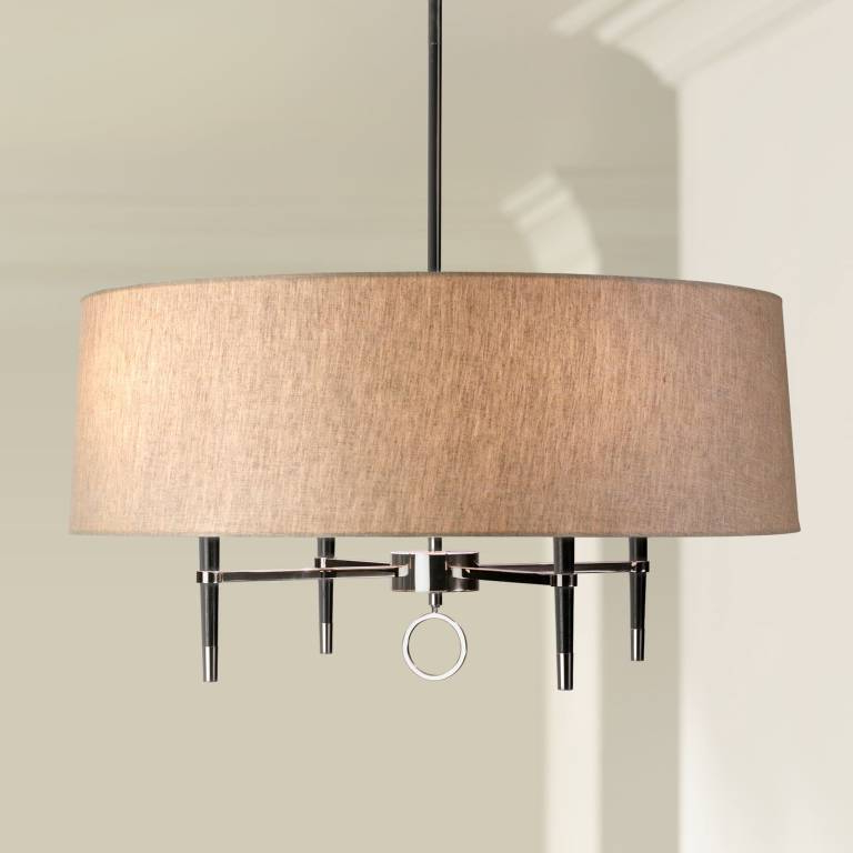 Most Up To Date Inspiration Linen Chandelier – Petergym.live With Wadlington 5 Light Drum Chandeliers (Gallery 28 of 30)