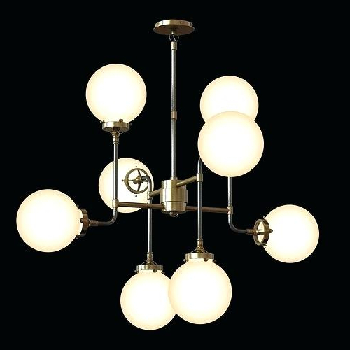 Most Up To Date La Barge 3 Light Globe Chandeliers In Globe Light Chandelier Sculptural Glass 3 Mixed (Gallery 16 of 30)