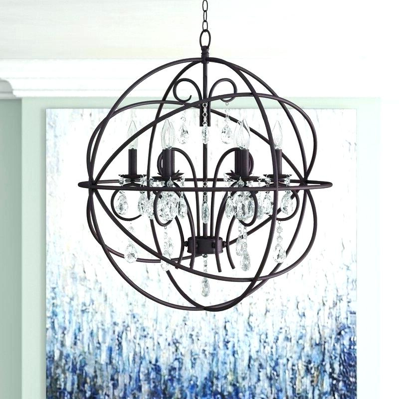 Most Up To Date Ricciardo 4 Light Globe Chandeliers Pertaining To Armillary Sphere Chandelier – Zelmastrahan (View 14 of 30)