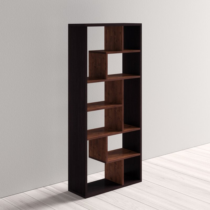 Most Up To Date Salyer Geometric Bookcase Regarding Ervin Geometric Bookcases (View 16 of 20)