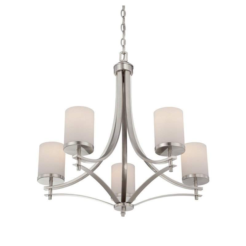 Most Up To Date Suki 5 Light Shaded Chandeliers Intended For Agnes 5 Light Shaded Chandelier (View 9 of 30)