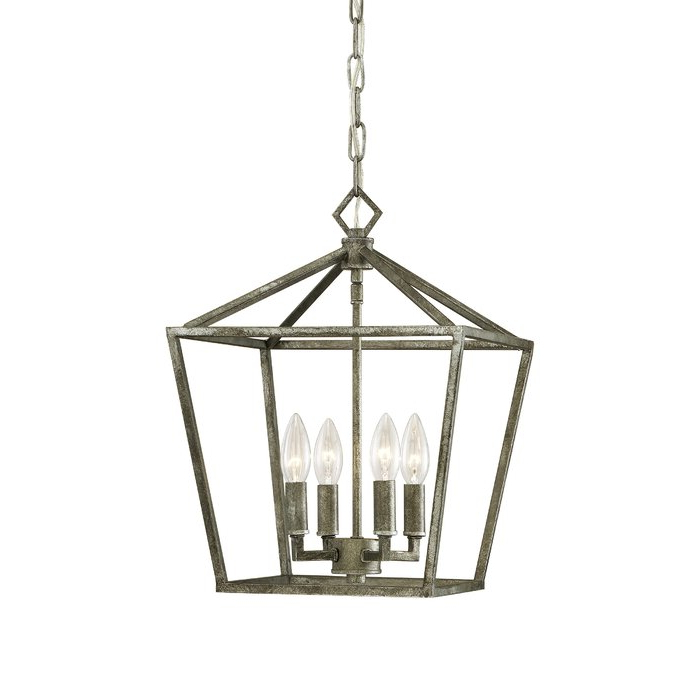 Most Up To Date Varnum 4 Light Lantern Pendants Inside Varnum 4 Light Lantern Pendant (View 7 of 30)