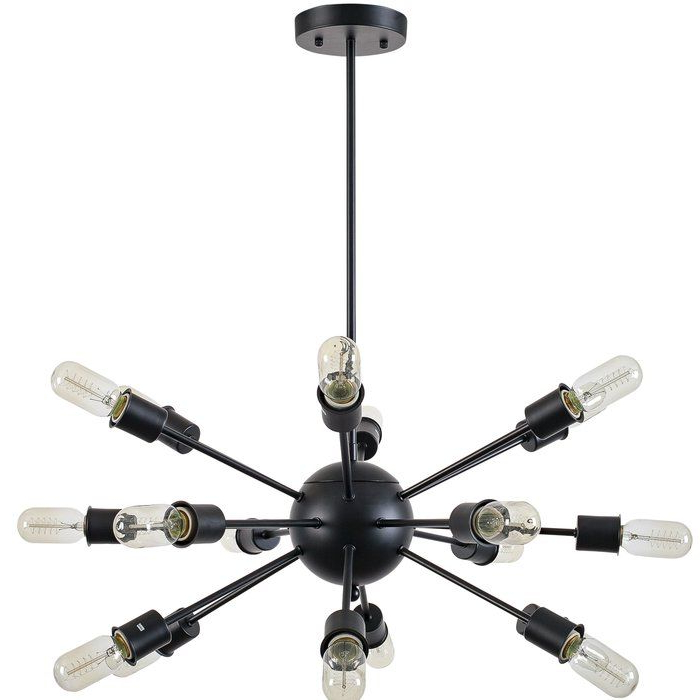 Most Up To Date Vroman 12 Light Sputnik Chandeliers With Defreitas 18 Light Sputnik Chandelier (View 15 of 30)