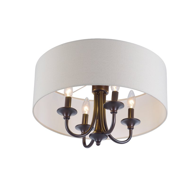 Most Up To Date Wadlington 4 Light Semi Flush Mount With Wadlington 5 Light Drum Chandeliers (Gallery 11 of 30)