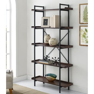 Most Up To Date Williston Forge Swindell Etagere Bookcase Finish: Dark Within Swindell Etagere Bookcases (View 2 of 20)