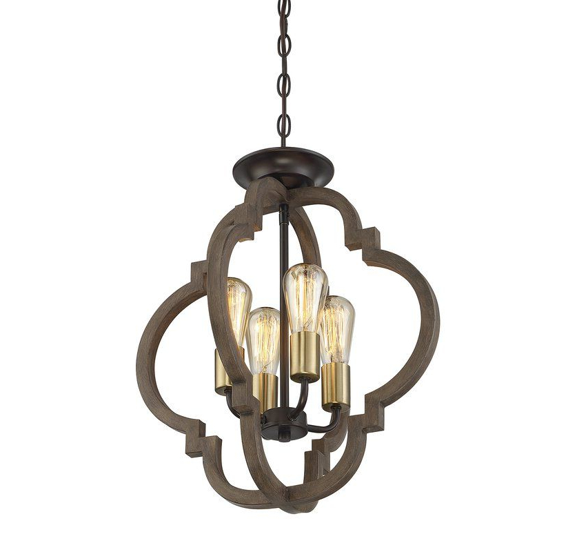 Most Up To Date Woolsey 4 Light Geometric Pendant (Gallery 7 of 30)