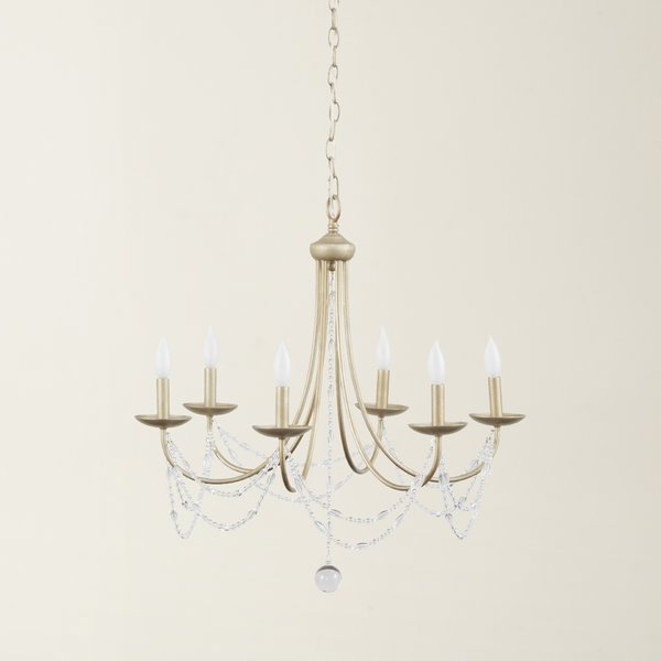 Nantucket 6 Light Candle Style Chandelier For Preferred Diaz 6 Light Candle Style Chandeliers (Gallery 9 of 30)