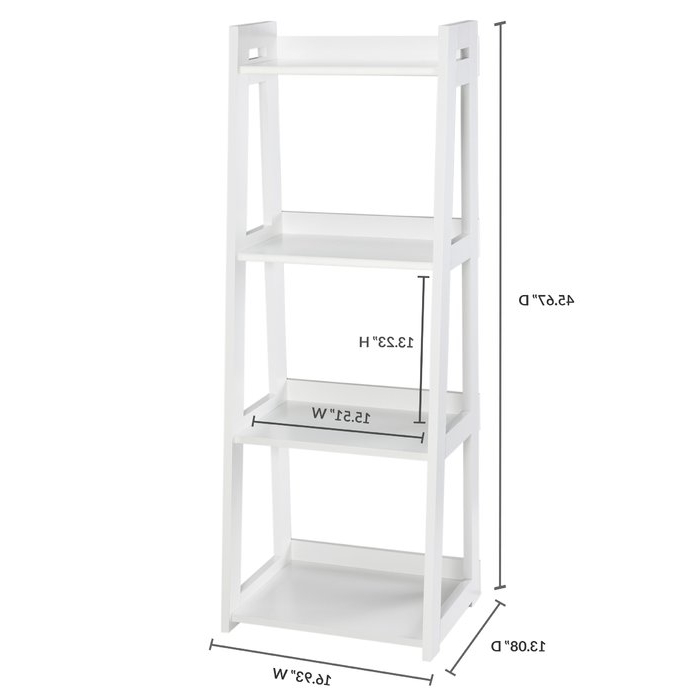 Narrow Ladder Bookcase For Well Liked Narrow Ladder Bookcases (View 9 of 20)