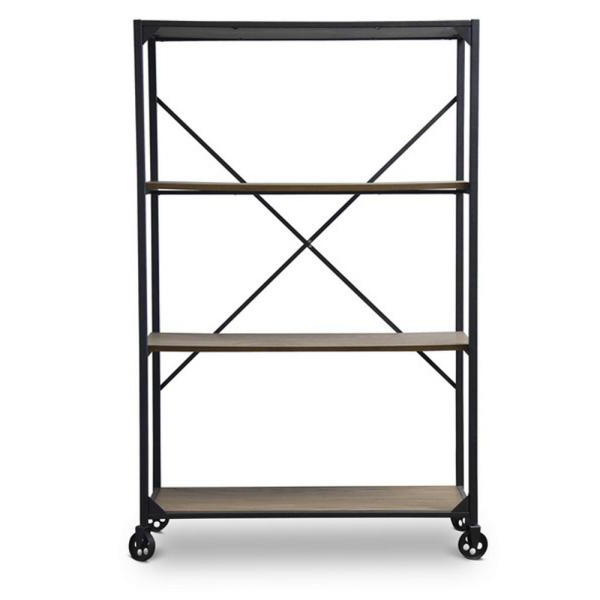 Natural Brown Washed Wood A Frame Etagere Open Bookcase Throughout Well Liked Saskia Etagere Bookcases (View 19 of 20)