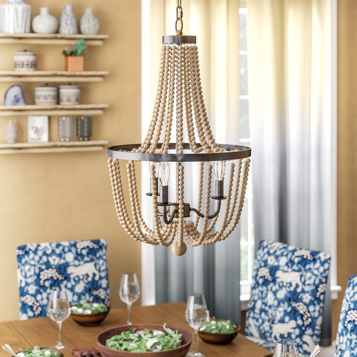 Nehemiah 3 Light Empire Chandelier With Regard To Famous Lyon 3 Light Unique / Statement Chandeliers (Gallery 21 of 30)