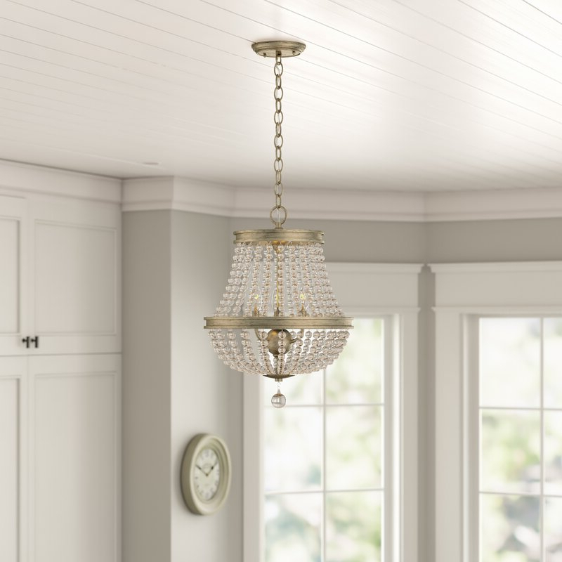 Nehemiah 3 Light Empire Chandeliers Within Preferred Allenhurst 3 Light Empire Chandelier (View 17 of 30)