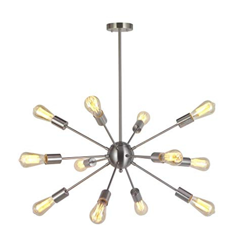 Nelly 12 Light Sputnik Chandeliers Pertaining To Well Known Modern Sputnik Chandelier Lighting 12 Lights Italian Designed Pendant  Lighting Mid Century Ceiling Light Fixture Brushed Nickeltudolight (View 20 of 30)