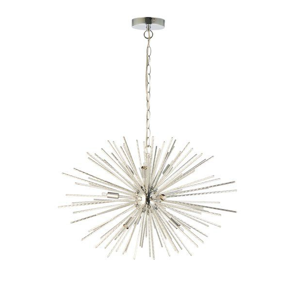 Nelly 12 Light Sputnik Chandeliers Regarding Most Recent Kraft 9 Light Sputnik Chandelier (View 21 of 30)