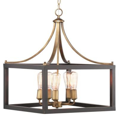 Newent 5 Light Shaded Chandeliers Within Trendy Chandeliers – The Home Depot (Gallery 22 of 30)