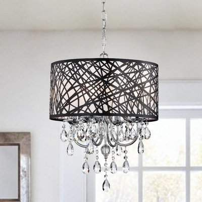 Newest Albano 4 Light Crystal Chandeliers With Regard To Albano 4 Light Crystal Chandelier (Gallery 18 of 30)
