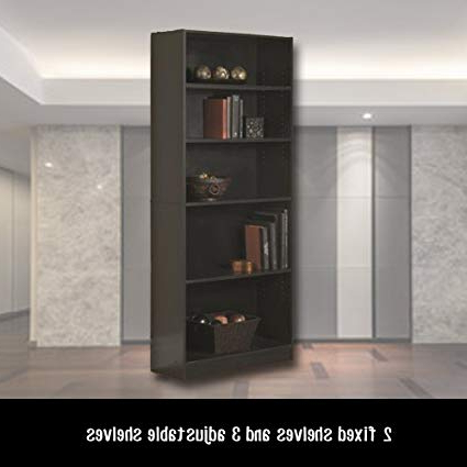 Newest Amazon: Tall Narrow Bookshelves 5 Shelf Standard Inside Standard Bookcases (Gallery 18 of 20)