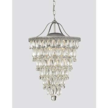 Newest Amazon: Wesley Crystal 6 Light Chandelier With Clear Regarding Bramers 6 Light Novelty Chandeliers (View 23 of 30)