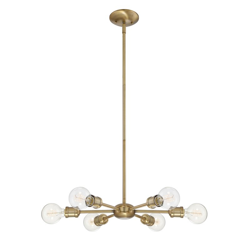 Newest Bautista 5 Light Sputnik Chandeliers In Bautista 6 Light Sputnik Chandelier (Gallery 8 of 30)