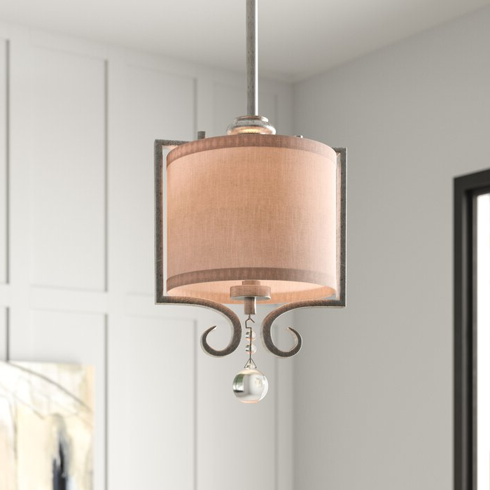 Newest Beasley 1 Light Single Drum Pendant Throughout Tadwick 3 Light Single Drum Chandeliers (View 19 of 30)