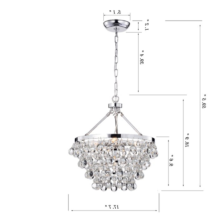 Newest Benedetto 5 Light Crystal Chandeliers Intended For Ahern 5 Light Crystal Chandelier (Gallery 26 of 30)