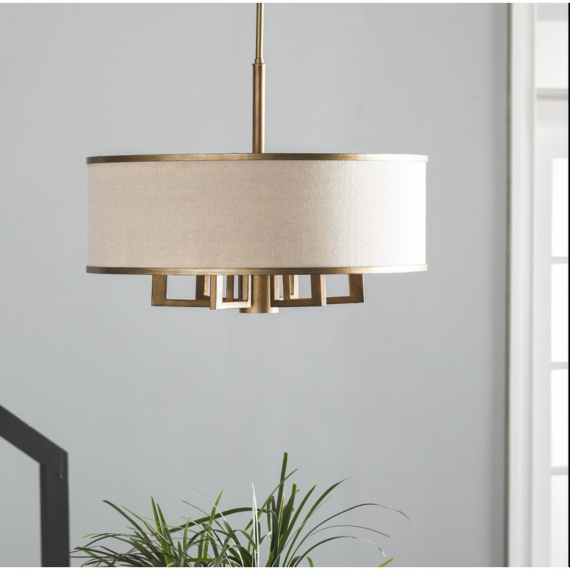 Newest Breithaup 7 Light Drum Chandelier Intended For Harlan 5 Light Drum Chandeliers (View 18 of 30)