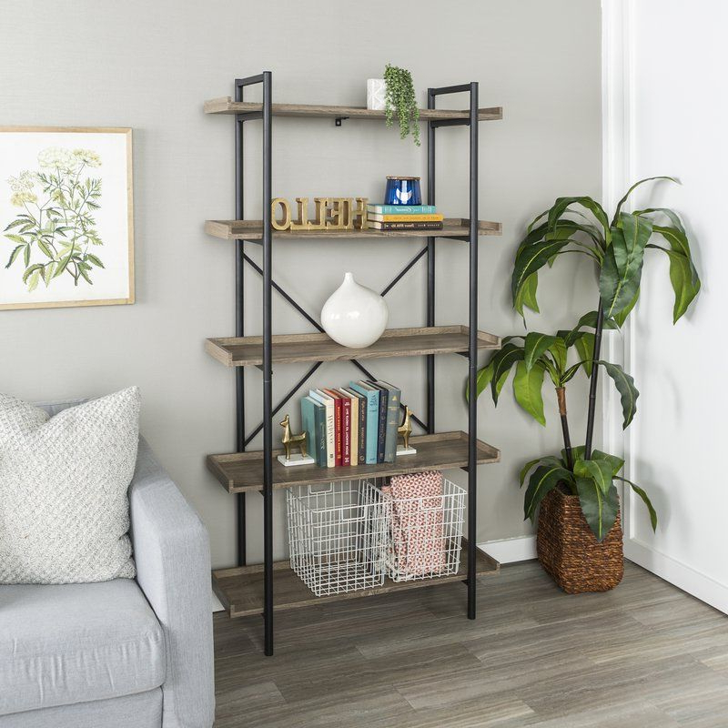 Newest Brianna Standard Bookcase In (View 20 of 20)