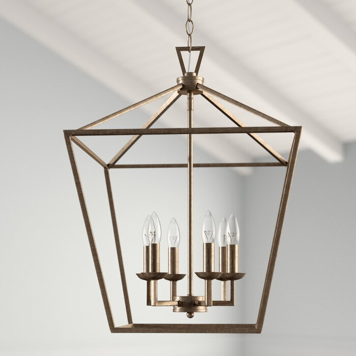 Newest Carmen 6 Light Lantern Geometric Pendant In Carmen 6 Light Lantern Geometric Pendants (Gallery 4 of 30)