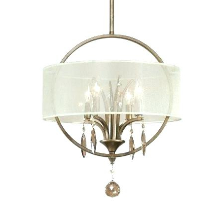 Newest Dailey 4 Light Drum Chandeliers Within Fabric Drum Pendant – Mrandmrsc.co (Gallery 12 of 30)