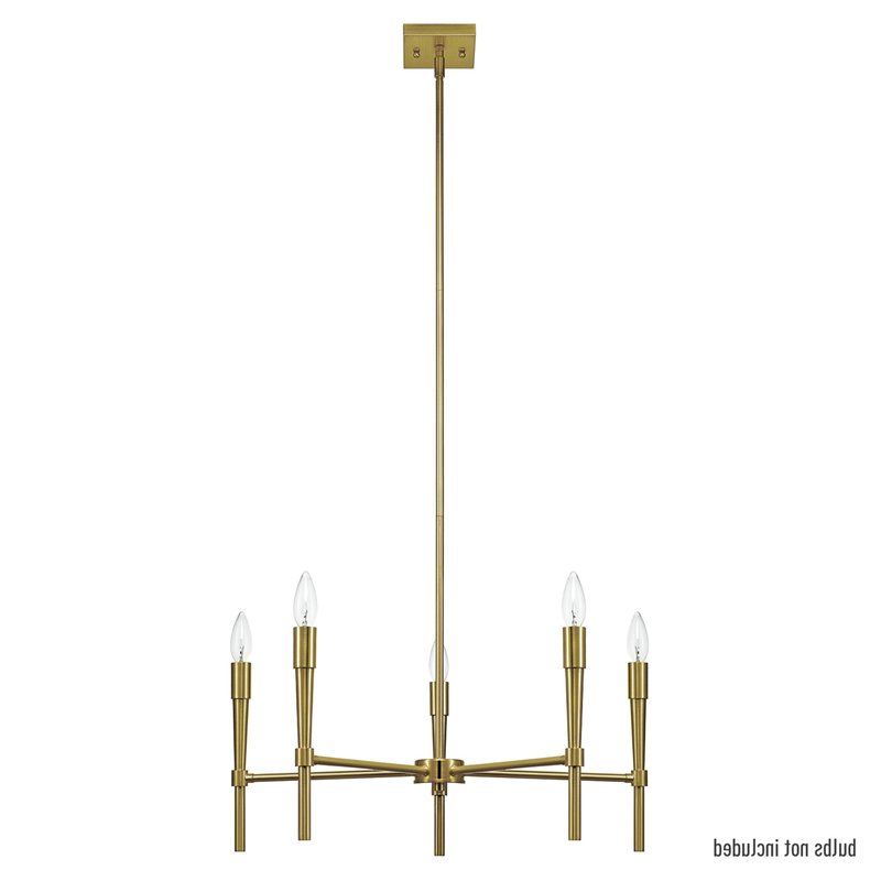 Newest Elena 5 Light Candle Style Chandelier In Hesse 5 Light Candle Style Chandeliers (Gallery 25 of 30)