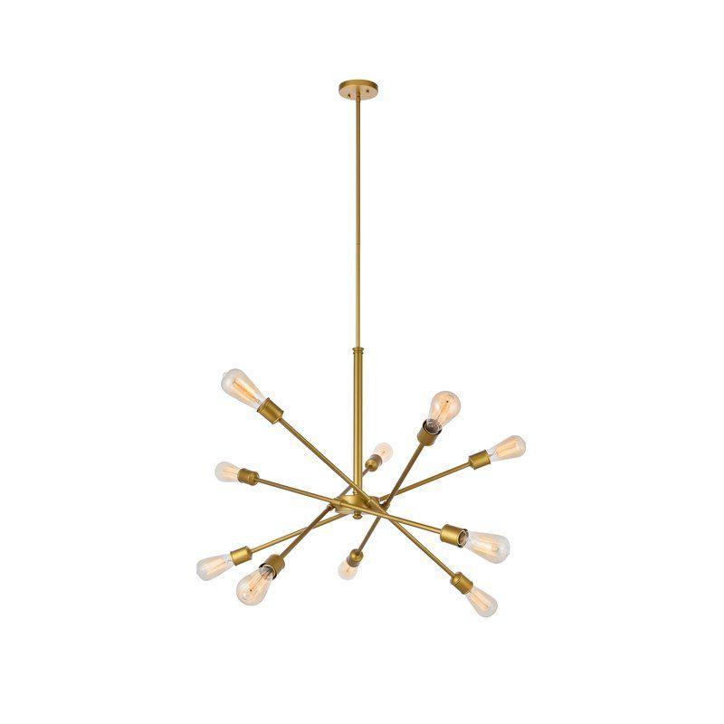 Newest Everett 10 Light Sputnik Chandeliers In Pin On Yeni Design Ideas (View 22 of 30)