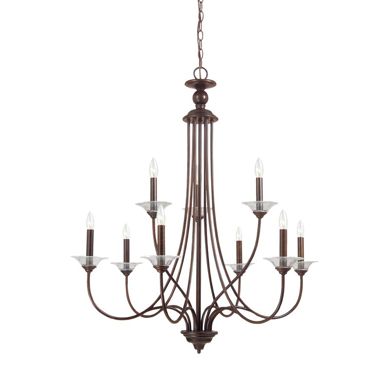 Newest Gaines 9 Light Candle Style Chandeliers Inside Barbro 9 Light Chandelier (View 9 of 30)