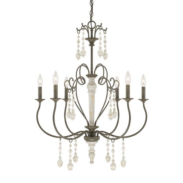 Newest Gaines 9 Light Candle Style Chandeliers Intended For Sofia 6 Light French Country Chandelier (View 26 of 30)