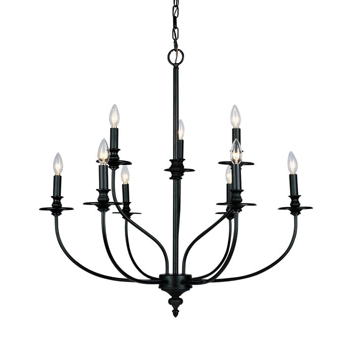 Newest Giverny 9 Light Candle Style Chandeliers With Regard To Giverny 9 Light Candle Style Chandelier (Gallery 1 of 30)